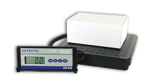 DETECTO DR150 / DR400 LOW-PROFILE PLATFORM SCALE (150, 400, 550 lb)