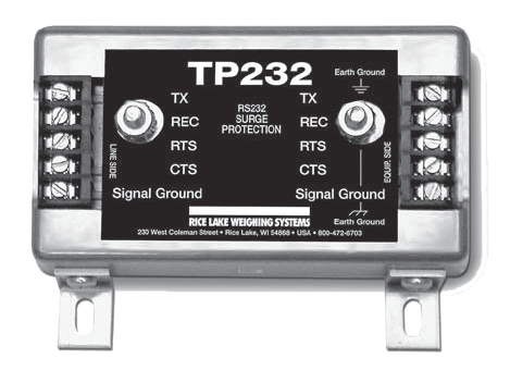 RICE LAKE TP232 RS-232 HIGH ENERGY SERIAL PROTECTION