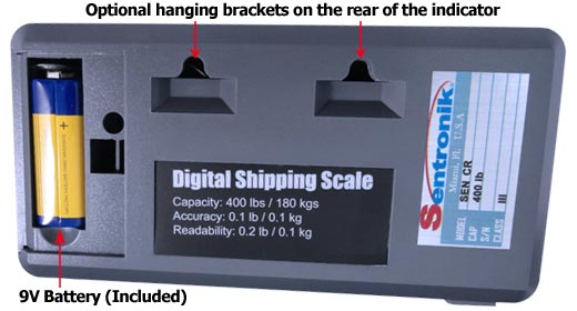 shipping scale battery