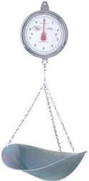 accuweigh ckm series hanging mechanical scale stainless steel (2lb, 10kg)